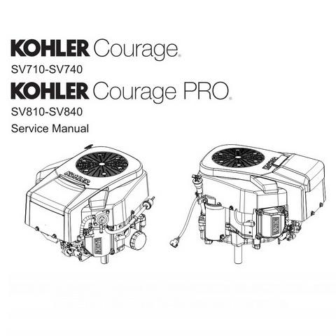 Kohler Courage SV710-SV740 & Courage PRO SV810-SV840